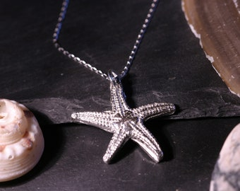 Solid Silver Starfish Necklace