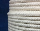 5mm Cream Cotton braided rope / Natural Rope / macrame cord / Whole Spool