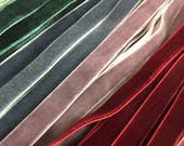 """Velvet ribbon 1cm, 3/8"""" width / Wholesale ribbon / ribbon by the yard, over 80 colours / also available in 3mm 1/8"""" and 6mm 1/4"""""""