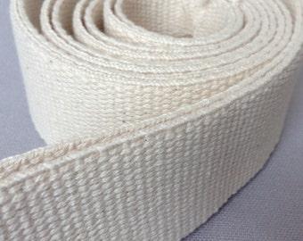"""BEIGE//NATURAL 19 mm 3//4/"""" CANVAS Reinforced cotton Webbing tape Bag Belt x 1 Yard"""
