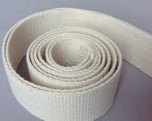 "1.5"" Heavy Cotton webbing x 5 yards / Heavy duty upholstery webbing in Raw natural colour / 38mm width"