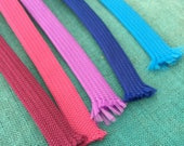 "3/8"" Polyester Flatring tape / Hoodie ties / Hoodie drawstring / 50 colours / sold by the yard / Shoelaces / outdoor macrame cord"
