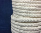 9mm Cream cotton braided rope / Natural Rope / Cream Cotton Rope / macrame cord / Rope decoration / Spool of braided cream rope