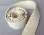 """Heavy Duty Cotton webbing for market bags or upholstery webbing, 1"""", 1.25"""", 1.5"""" and 2"""" widths"""