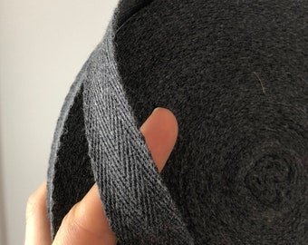 3/4 inch cotton twill tape, herringbone tape, 50 yards, over 200 colour choices.