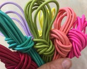 2mm Elastic Drawcord, Nylon shock cord, Elastic bungee stretch cord, polyester elastic cord / round stretch rope cord / Sold by the yard