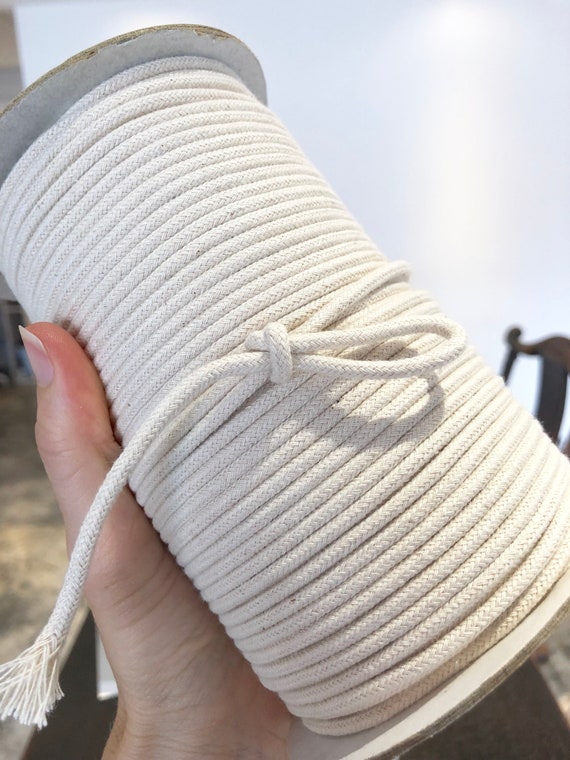 3mm Macrame Cotton rope 100/% fine braided unbleached cotton cord 18 or 3mm RS255