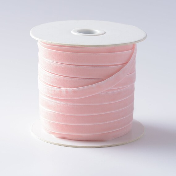 "10 yard 3//8/"" Velvet Ribbon 9mm//Satin Back//craft//trim Hot Pink"