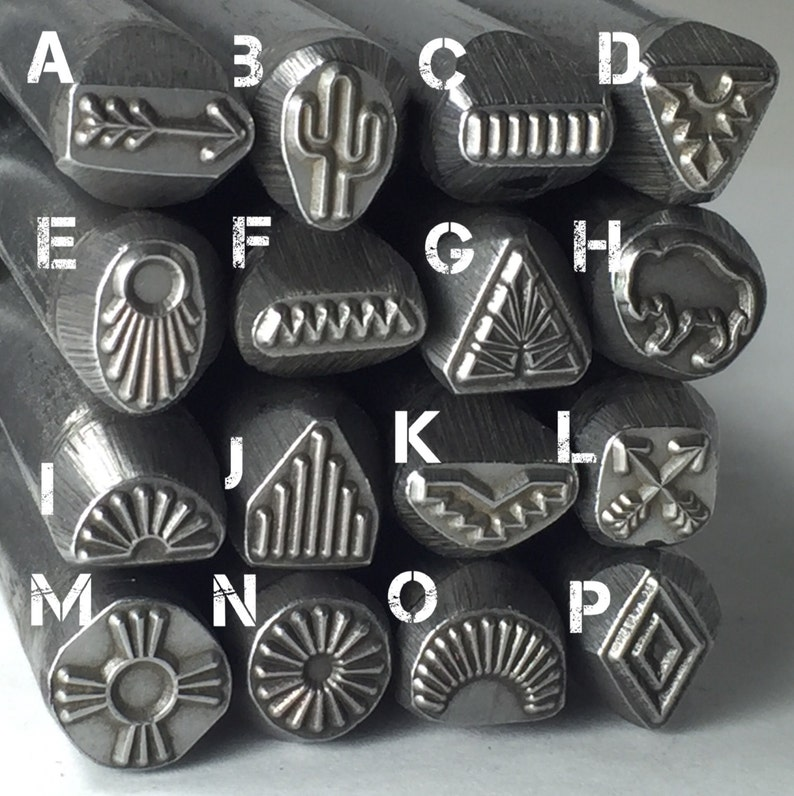 Native American  large steel stamps native tribe designs image 0