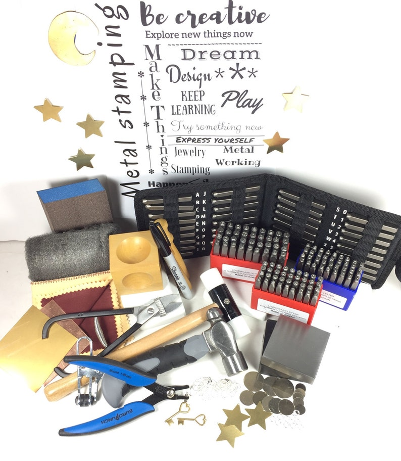 4mm 5mm stamp kit Jewelry stamp kit Larger letters stamp on metal 2 Letter Sizes make stamped jewelry