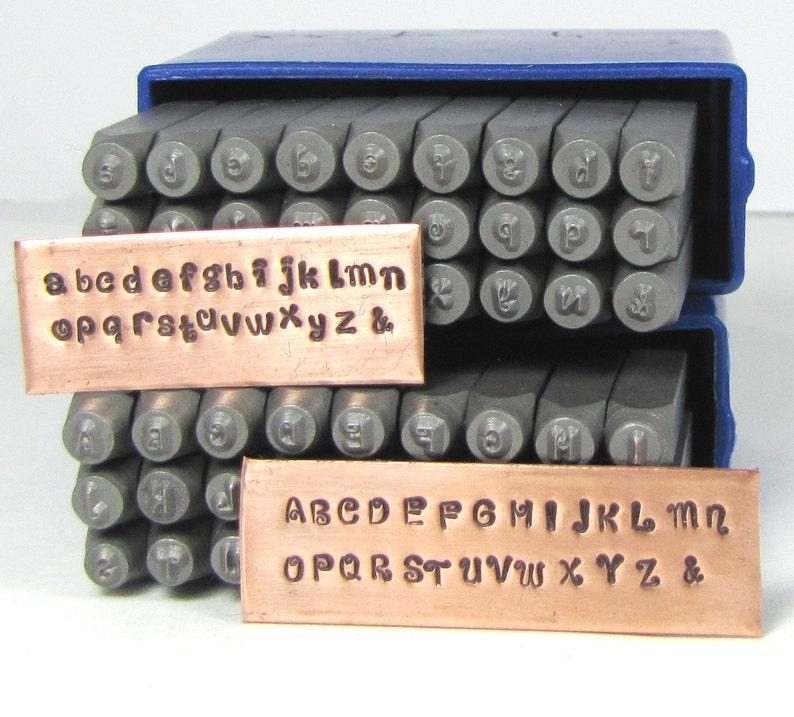 KissyFace 2mm steel letter stamps upper lower case facny alphabet font