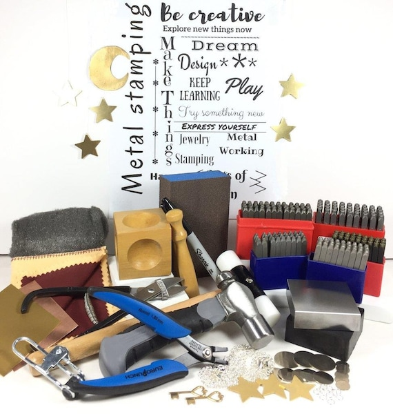 Jewelry stamp kit Metal Stamping Kit 3 Letter Sizes 1.5mm | Etsy