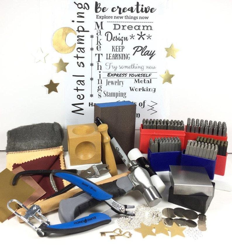 Jewelry stamp kit Metal Stamping Kit 3 Letter Sizes 1.5mm image 0