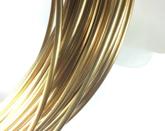 Half Round, 6 gauge Red Brass Wire, 10 ft.,  great for cuffs, tribal bracelet, gold bangles, see examples