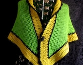 Green and Yellow Shawl Autumn Ash Leaf