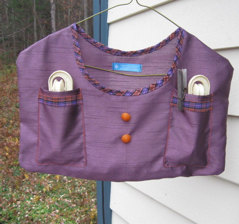 Purple Clothespin Bags image 0