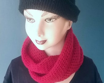 Woolen Infinity Cowl and Headscarf
