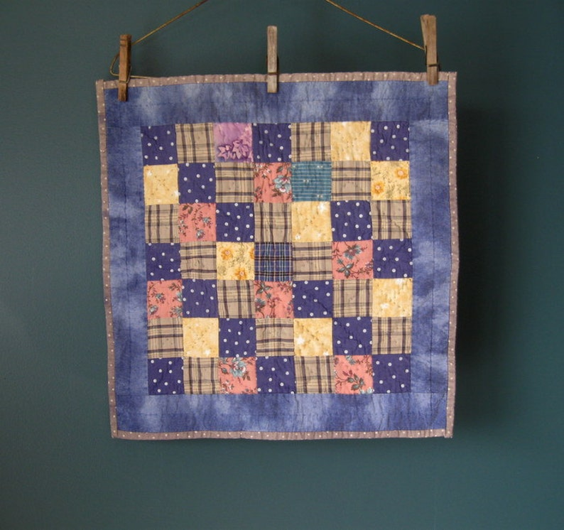 Patchwork Cotton Doll Quilt image 0