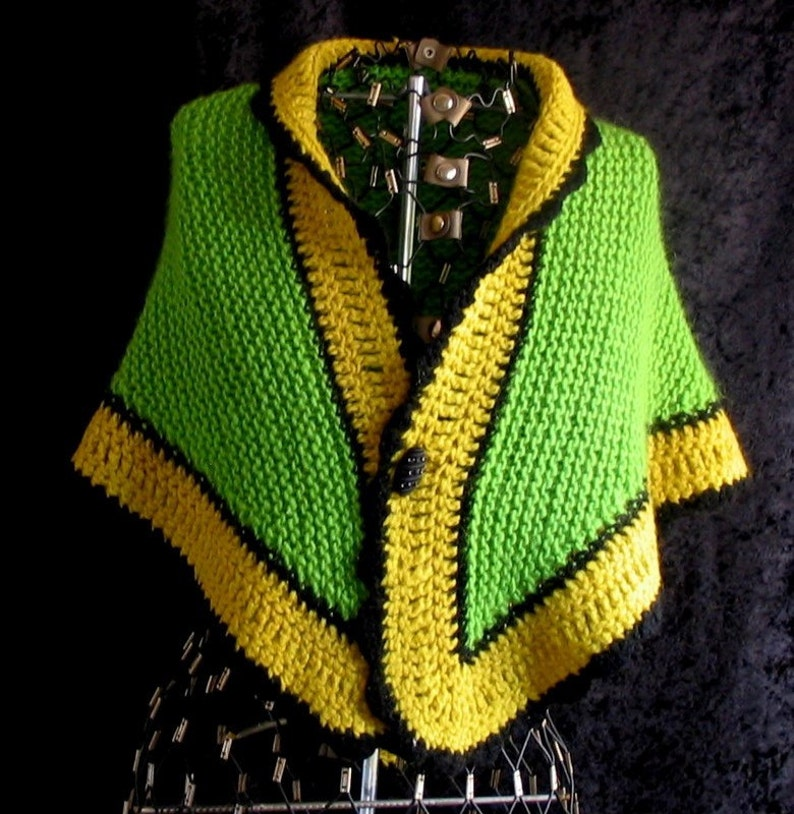 Green and Yellow Shawl Autumn Ash Leaf image 0