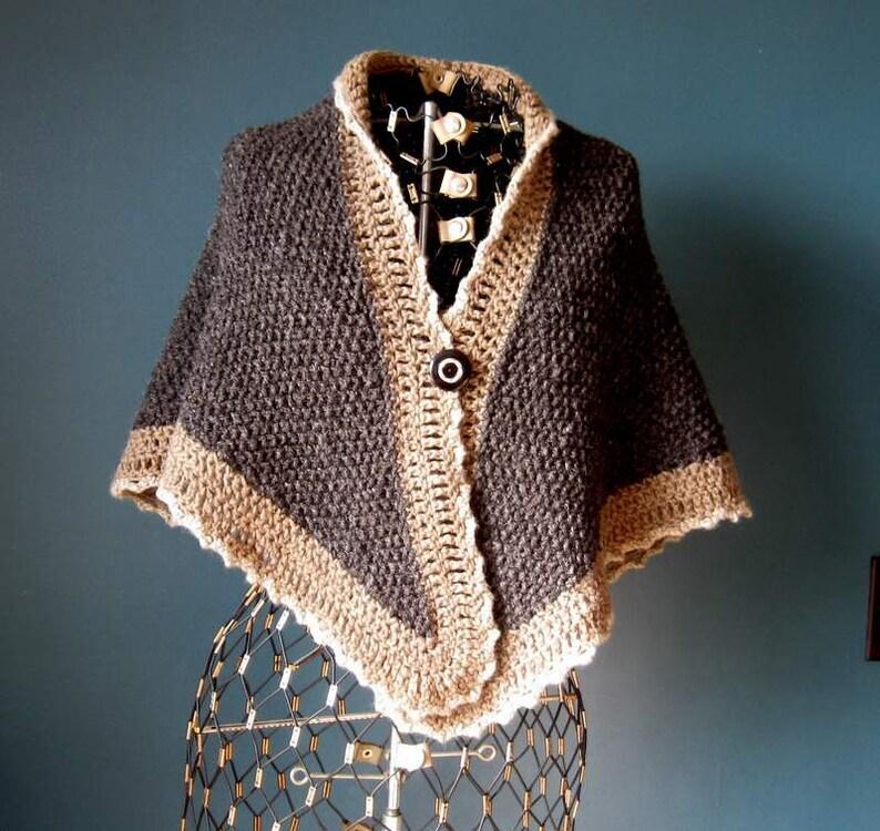 Dark Gray Wool Shawl Naturally Dyed image 0