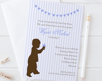 DIY 1st Birthday Invitation Cupcake Printable