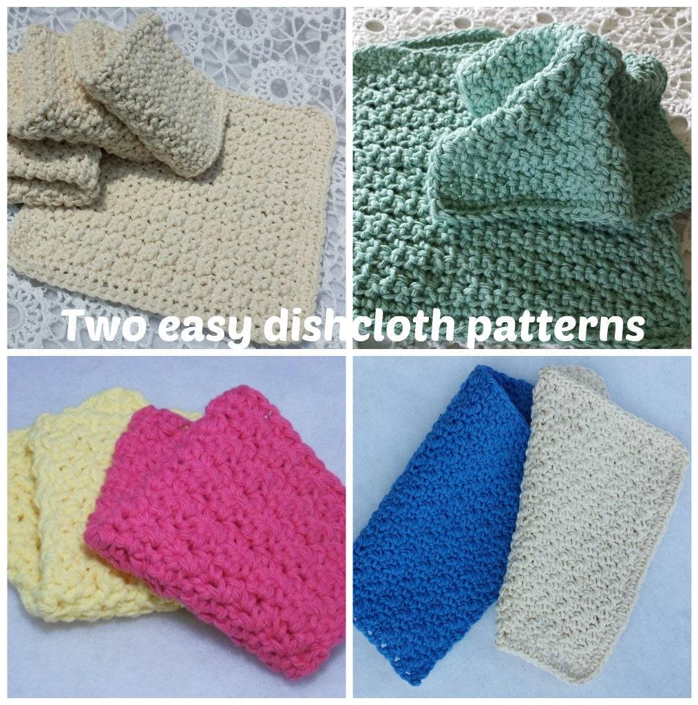 Dishcloth Pattern 2 Easy Crochet Dishcloth Patterns Etsy