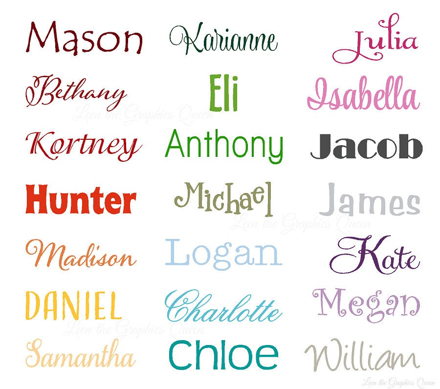 Name Vinyl Wall Decal Personalized Gift Perfect For