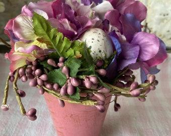 Floral Arrangement Flowers Egg Hydrangea Plum Berries Small Arrangement