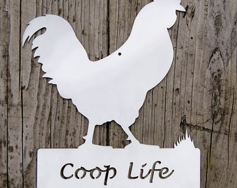 Rooster Farm Sign - Coop Life