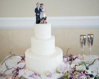 Zombie Wedding Cake Topper Custom Wedding Cake Topper Bride Etsy