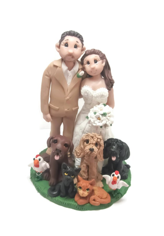 animal wedding cake toppers uk custom cake topper animal wedding cake topper 10775