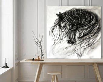 "Horse Wall Art-Horse Decor of ""Mane Dance"" giclee print"