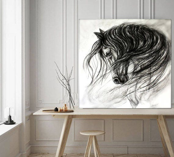 "Horse Wall Art-Horse Decor of ""Mane Dance"" giclee print"
