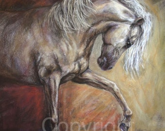 "Horse Canvas Print of 'Champagne Dancer"" On Canvas or paper"