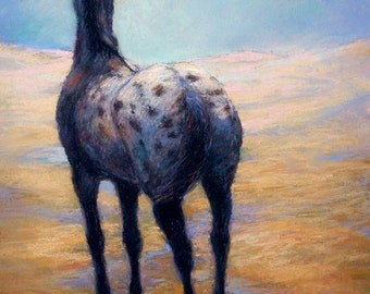Appaloosa Horse Art On Canvas or paper of 'Clouds Become Me'-Appaloosa Designs