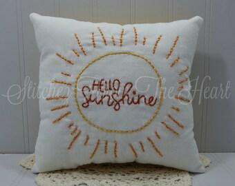 Hello Sunshine Throw Pillow - Spring Decor - Summer Decor - Coastal Decor - Beach Decor