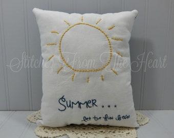 Summer Let The Fun Begin Decorative Pillow - Sun - Summer Home Decor