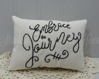 Embrace The Journey Mini Accent Pillow