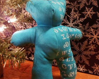 Turquoise Cherokee Tsalagi Syllabary Teddy Bear