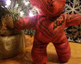Red Paisley Teddy Bear