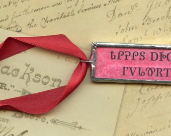 Valentine's Day Cherokee Language Ornament or Pendant