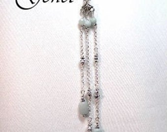 Amazonite Lariat Necklace  by Gonet Jewelry Design
