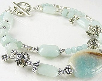 Amazonite Bracelet (Marina) (Coral Reef Collection)  by Gonet Jewelry Design