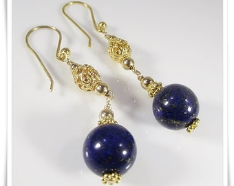 LAPIS LAZULI EARRINGS (Esther)  by Gonet Jewelry Design