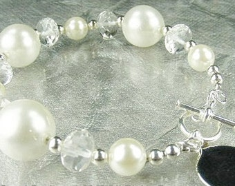 South Sea Shell Pearl Bracelet  (Snow Pearls)  by Gonet Jewelry Design