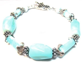 Blue Opal Bracelet  Azure II  (Coral Reef Collection)   by Gonet Jewelry Design