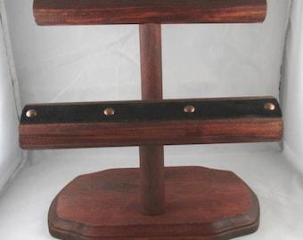 Wooden Double Bracelet Bar, Bracelet Display, Double