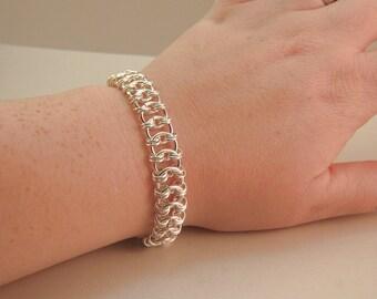 Chainmaille Sterling Silver Snakeskin Bracelet