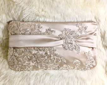 custom heirloom wedding dress clutch purse - made from pieces of brides wedding gown and turned it into a keepsake purse, bridal tradition