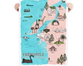 Illustrated Map - Fremantle, Western Australia